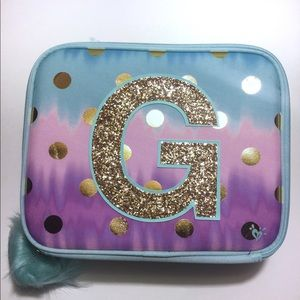 Justice Ombre Foil Dot Lunch Tote - Initial G